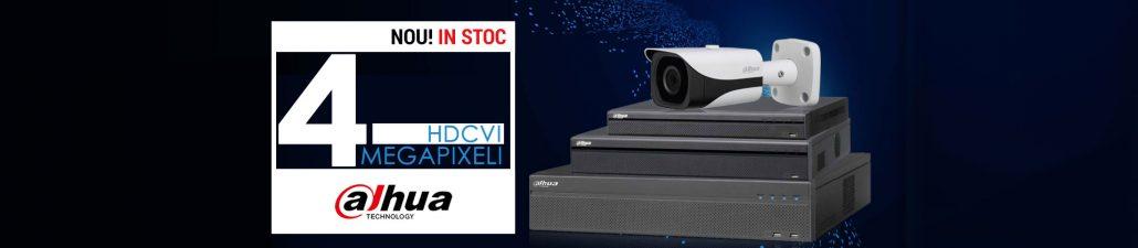Camere si DVR-uri HDCVI de 4 Megapixeli pentru supraveghere video